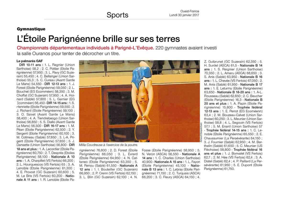 OF PARIGNE SPORTS 3001